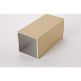 Труба квадратная пустотелая алюминиевая анодированная 45х45 золото для мебельных конструкций 5,95 м