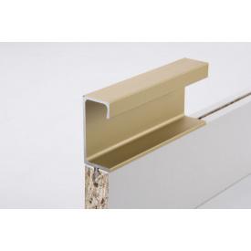 Меблева ручка профільна врізна Н 3 для ДСП 18 мм 5,5 м золото