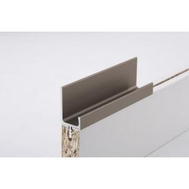 Меблева ручка профільна врізна Н 2 для ДСП 18 мм 5,95 м коньяк