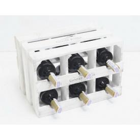 Підставка для вина Холодна ковка Прованс Ящик Горизонтальний на 6 пляшок білий