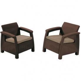 Набор из двух кресел Keter Corfu duo коричневый