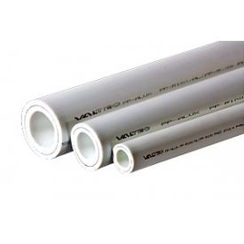 Труба полипропиленовая VALTEC армированная алюминием PP-ALUX PN 25 25 мм белый 2 м. VTp.700.AL25.25