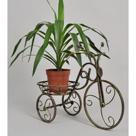 Подставка для цветов Холодная ковка Велосипед 1 большой