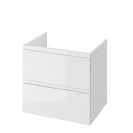 MODUO 60 Шкафчик под умывальник на столешницу с отверстием для сифона белый