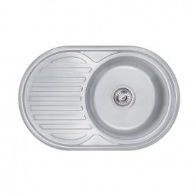 Кухонная мойка Lidz 7750 0,6 мм Decor (LIDZ775006DEC)