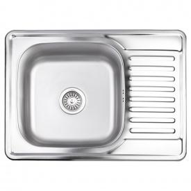 Кухонная мойка Lidz 6950 0,8 мм Satin (LIDZ6950SAT8)