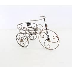 Подставка для цветов Холодная ковка Велосипед 1 мини