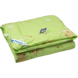 Одеяло детское силиконовое Руно антиаллергенное зимнее салатовое 140x105 см