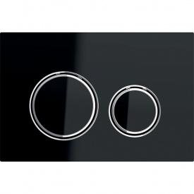 Смывная клавиша Geberit Sigma21 металл и стекло двойной смыв цвет хром и черный 115.884.SJ.1