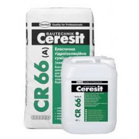 Эластичная гидроизоляционная смесь 2 компонента Ceresit CR 66 17,5 кг+5 л