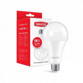 Лампа светодиодная Maxus A80 18W 4100K E27