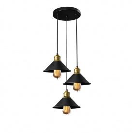Светильник подвесной в стиле лофт на три лампы MSK Electric NL 210-3R