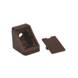 Куточок меблевий одинарний пластиковий GIFF темно-коричневий