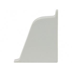 Заглушка к плинтусу 118 Rehau Светло-серый-правая 98102