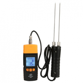 Електронний вологомір деревини внесений щуп (28 порід 4 типу) BENETECH GM620