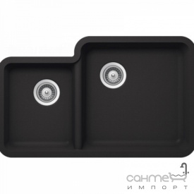 Гранітна кухонна мийка Schock Cristalite Solido N-175 Onyx чорна