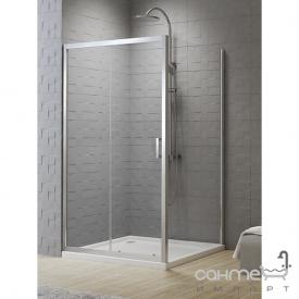 Прямокутна душова кабіна New Trendy New Varia D-0189A / D-0102B профіль хром / прозоре скло