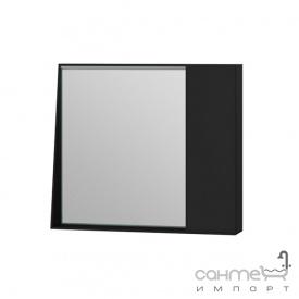 Зеркальный шкаф Ювента Manhattan 80 с LED подсветкой и выключателем черный