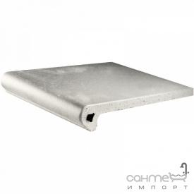 Клинкерная плитка ступень 33x33 Gres de Aragon Cotto Peldano Ref. 24-33 Blanco белая