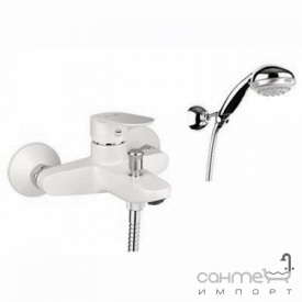 Смеситель для ванны с ручным душем Fiore Kevon Chic 81 WX 8150 белый