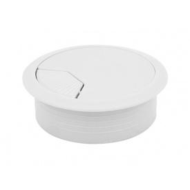 Заглушка кабельная пластиковая GIFF белый