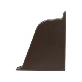 Заглушка к плинтусу 118 Rehau Сепия коричневая-правая 96102