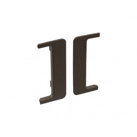 Заглушка открытая к С-образному профилю Gola Volpato Clap`n`FIT венге пара