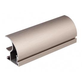 Вертикальный открытый профиль с пазом под щеткуSlider Expert мм 5200 мокко браш