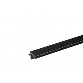 Профиль Gola L-образный в верхний модуль Volpato для ДСП 18 мм мм 4200 черный матовый 80/G29