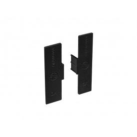 Заглушка закрытая к С-образному профилю Gola Volpato Clap`n`FIT черный матовый пара