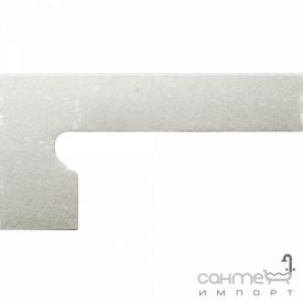 Клинкерная плитка боковина левая 20x39 Gres de Aragon Cotto Zanquin left Blanco белая