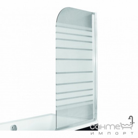 Шторка для ванны Besco PMD Piramida Ambition-1 75х130 профиль хром стекло прозрачное