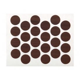 Заглушка минификса самоклеющаяся Weiss d=20 орех темный 24 шт 7455