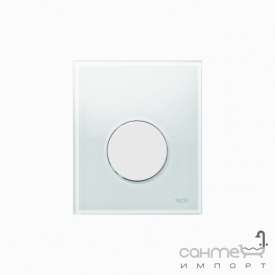 Панель смыва для писсуара стеклянная (белое стекло) TECE TECEloop Urinal 9.242.650 клавиша белая