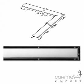 Решітка кутового дренажного каналу TECE TECEdrainline steel II 611.282 1200x1200 мм
