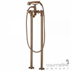 Напольный смеситель для ванны на двух ногах Blue Water Retro RET-BWP 090 STARE ZLOTO старое золото