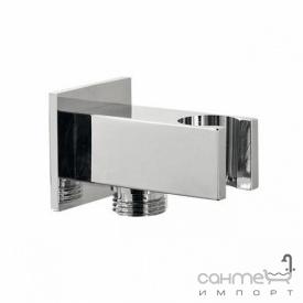 Шлангове під'єднування з утримувачем для душу Fiore Accessori 35 PMS0 02 хром