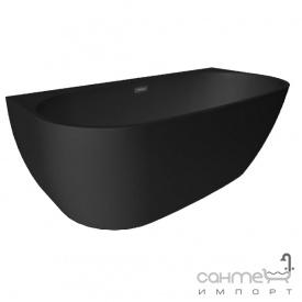 Ванна акрилова окремостояча Polimat Risa 160х80 00479 чорний матовий