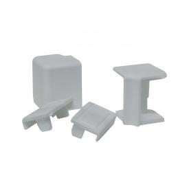 Комплект к плинтусу VOLPATO серый 2 заглушки 1внешн.+1внутр. угол мм 4200 16х26мм