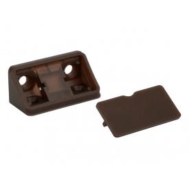 Куточок меблевий подвійний пластиковий GIFF темно-коричневий