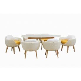 Обідній комплект Ei (стіл+6 крісел)