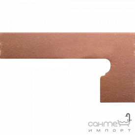 Клинкерная плитка боковина правая 20x39 Gres de Aragon Italia Zanquin right Pisa коричневая