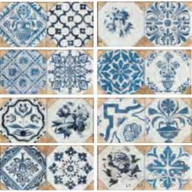 Клинкерная плитка декор 12x25 Gres de Aragon Retro Azul Tierra