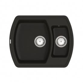 Кухонная Мойка Vankor Norton Nmp 03.63 Black + Сифон Vankor