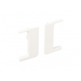 Заглушка открытая к L-образному профилю Gola Volpato Clap`n`FIT белый пара
