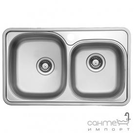 Кухонная мойка Ukinox Comfort COP 780.480 18 GT 8K L левосторонняя, полированная нерж. сталь