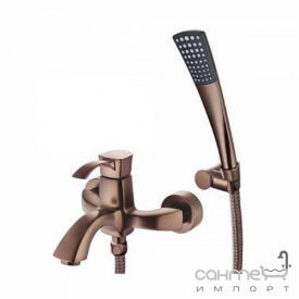 Смеситель для ванны с душевым гарнитуром Welle Odelia BE23202RC-H21155-CN1303 темная бронза