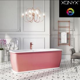 Отдельностоящая ванна из литого камня Balteco Epoque 170 белая внутри/Red Violet RAL 4002