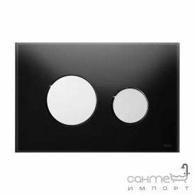 Панель смыва с двумя клавишами стеклянная (черное стекло) TECE TECEloop 9.240.656 клавиши хром глянцевый