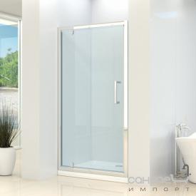 Душевая дверь в нишу Dusel FA516 90x1900 прозрачное стекло